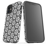For Apple iPhone 12 Pro Max/12 Pro/12 mini Case, Tough Protective Back Cover, grey star pattern   iCoverLover Australia