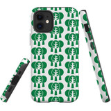 For Apple iPhone 12 mini Case, Tough Protective Back Cover, green tree pattern | iCoverLover Australia