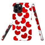 For Apple iPhone 12 mini Case, Tough Protective Back Cover, heart pattern | iCoverLover Australia