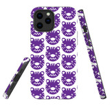 For Apple iPhone 12 mini Case, Tough Protective Back Cover, purple tiger pattern | iCoverLover Australia