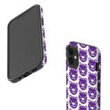 For Apple iPhone 12 Pro Max/12 Pro/12 mini Case, Tough Protective Back Cover, purple tiger pattern | iCoverLover Australia