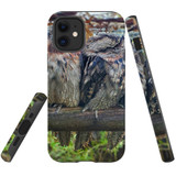 For Apple iPhone 12 mini Case, Tough Protective Back Cover, frogmouth family | iCoverLover Australia