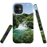 For Apple iPhone 12 mini Case, Tough Protective Back Cover, beautiful waterfalls   iCoverLover Australia