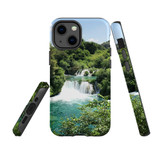 For Apple iPhone 13 mini Case, Protective Back Cover, Beautiful Waterfalls | Shielding Cases | iCoverLover.com.au