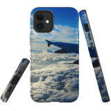 For Apple iPhone 12 Pro Max/12 Pro/12 mini Case, Tough Protective Back Cover, sky clouds plane | iCoverLover Australia