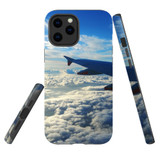 For Apple iPhone 12 Pro Max Case, Tough Protective Back Cover, sky clouds plane | iCoverLover Australia
