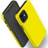 For Apple iPhone 12 Pro Max/12 Pro/12 mini Case, Tough Protective Back Cover, Yellow | iCoverLover Australia