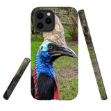 For Apple iPhone 12 Pro Max Case, Tough Protective Back Cover, Cassowaries | iCoverLover Australia