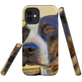 For Apple iPhone 12 mini Case, Tough Protective Back Cover, staffy sceptical | iCoverLover Australia