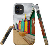For Apple iPhone 12 mini Case, Tough Protective Back Cover, Brighton Bathing Boxes | iCoverLover Australia