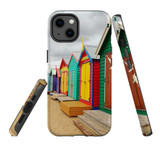 For Apple iPhone 13 Case, Protective Back Cover, Brighton Bathing Boxes   Shielding Cases   iCoverLover.com.au