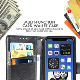 For iPhone 12, 12 mini, 12 Pro, 12 Pro Max Case, Butterfly PU Leather Wallet Cover, Lanyard & Stand, Dark Purple   iCoverLover Australia