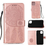 For iPhone 12, 12 mini, 12 Pro, 12 Pro Max Case, Dream Catcher PU Leather Wallet Cover, Stand, Lanyard, Rose Gold | iCoverLover Australia
