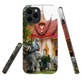 For Apple iPhone 12 Pro Max Case, Tough Protective Back Cover, thai elephant statues temple   iCoverLover Australia
