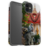 For Apple iPhone 12 Pro Max/12 Pro/12 mini Case, Tough Protective Back Cover, thai elephant statues temple   iCoverLover Australia