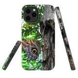 For Apple iPhone 12 Pro Max Case, Tough Protective Back Cover, Butterfly On a Tree | iCoverLover Australia