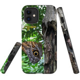 For Apple iPhone 12 mini Case, Tough Protective Back Cover, Butterfly On a Tree | iCoverLover Australia