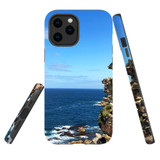For Apple iPhone 12 Pro Max Case, Tough Protective Back Cover, Ocean Cliffs | iCoverLover Australia