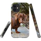 For Apple iPhone 12 Pro Max/12 Pro/12 mini Case, Tough Protective Back Cover, tan daschunvivi | iCoverLover Australia