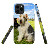 For Apple iPhone 12 Pro Max Case, Tough Protective Back Cover, three dogs | iCoverLover Australia