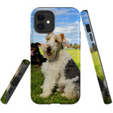 For Apple iPhone 12 mini Case, Tough Protective Back Cover, three dogs | iCoverLover Australia
