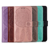 For iPhone 12, 12 mini, 12 Pro, 12 Pro Max Case, Dream Catcher PU Leather Wallet Cover, Stand, Lanyard, Black | iCoverLover Australia