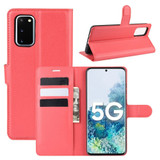 For Samsung Galaxy S20 FE 4G / 5g Case Lychee Folio Protective PU Leather Wallet Cover, Red | iCoverLover Australia