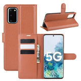 For Samsung Galaxy S20 FE 4G / 5g Case Lychee Folio Protective PU Leather Wallet Cover, Brown | iCoverLover Australia