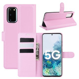 For Samsung Galaxy S20 FE 4G / 5g Case Lychee Folio Protective PU Leather Wallet Cover, Pink | iCoverLover Australia
