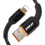8 Pin Data Transfer 2.4A 1m Charging Cable Black