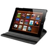 Black Rotatable Leather Smart Function iPad 2 / iPad 3 / iPad 4 Case | Fashion iPad Cases | iPad Covers | iCoverLover
