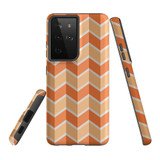 Samsung Galaxy S21 Ultra Case, Tough Protective Back Cover, ZigZag Salmon   iCoverLover.com.au   Phone Cases