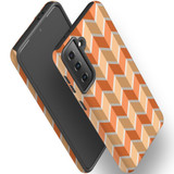 Samsung Galaxy S21 Ultra/S21+ Plus/S21  Case, Tough Protective Back Cover, ZigZag Salmon   iCoverLover.com.au   Phone Cases