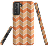 Samsung Galaxy S21 Case, Tough Protective Back Cover, ZigZag Salmon   iCoverLover.com.au   Phone Cases