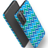 Samsung Galaxy S21 Ultra/S21+ Plus/S21  Case, Tough Protective Back Cover, Blue And Green Waves   iCoverLover.com.au   Phone Cases