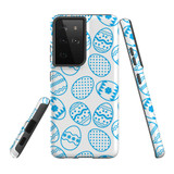 Samsung Galaxy S21 Ultra Case, Tough Protective Back Cover, Blue Easter Eggs | iCoverLover.com.au | Phone Cases