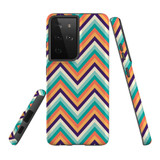 Samsung Galaxy S21 Ultra Case, Tough Protective Back Cover, ZigZag Rainbow | iCoverLover.com.au | Phone Cases