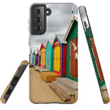 Samsung Galaxy S21 Case, Tough Protective Back Cover, Brighton Bathing Boxes | iCoverLover.com.au | Phone Cases