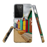 Samsung Galaxy S21 Ultra Case, Tough Protective Back Cover, Brighton Bathing Boxes | iCoverLover.com.au | Phone Cases