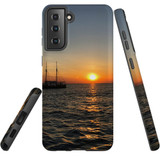 Samsung Galaxy S21 Case, Tough Protective Back Cover, Sailing Sunset   iCoverLover.com.au   Phone Cases