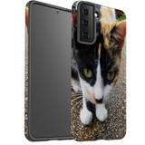 Samsung Galaxy S21 Ultra/S21+ Plus/S21  Case, Tough Protective Back Cover, Cat Closeup   iCoverLover.com.au   Phone Cases
