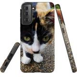 Samsung Galaxy S21 Case, Tough Protective Back Cover, Cat Closeup   iCoverLover.com.au   Phone Cases