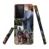 Samsung Galaxy S21 Ultra Case, Tough Protective Back Cover, Thai Elephant Statues   iCoverLover.com.au   Phone Cases