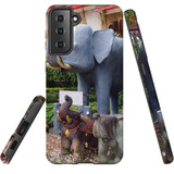 Samsung Galaxy S21 Case, Tough Protective Back Cover, Thai Elephant Statues   iCoverLover.com.au   Phone Cases