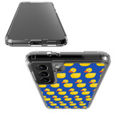 Samsung Galaxy S21 Ultra/S21+ Plus/S21 Protective Case, Clear Acrylic Back Cover, Yellow Duckies   iCoverLover.com.au   Phone Cases