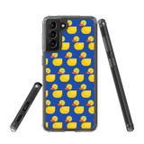 Samsung Galaxy S21+ Plus Protective Case, Clear Acrylic Back Cover, Yellow Duckies   iCoverLover.com.au   Phone Cases