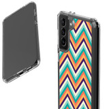 Samsung Galaxy S21 Ultra/S21+ Plus/S21 Protective Case, Clear Acrylic Back Cover, ZigZag Rainbow   iCoverLover.com.au   Phone Cases