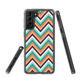Samsung Galaxy S21+ Plus Protective Case, Clear Acrylic Back Cover, ZigZag Rainbow   iCoverLover.com.au   Phone Cases