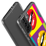 Samsung Galaxy S21 Ultra/S21+ Plus/S21 Protective Case, Clear Acrylic Back Cover, Pop Art Lips | iCoverLover.com.au | Phone Cases