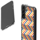 Samsung Galaxy S21 Ultra/S21+ Plus/S21 Protective Case, Clear Acrylic Back Cover, Left To Right Colourful ZigZag   iCoverLover.com.au   Phone Cases